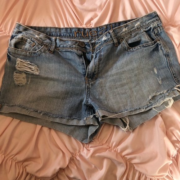 Rue21 Pants - 3 for $12 Rue 21 distressed jean shorts